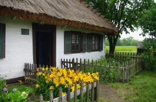 Chałupa ze Złakowa Borowego, poł. XIX w., fot. M.  Bartosiewicz