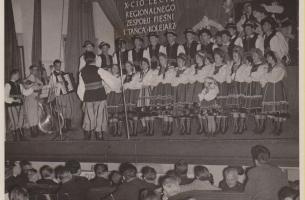 Jan Pelski ur. 1933, 1958 r.Marian Kubiak skrzypce, Zygmunt Pilichowski kontrabas, ud. Beata Bogacz