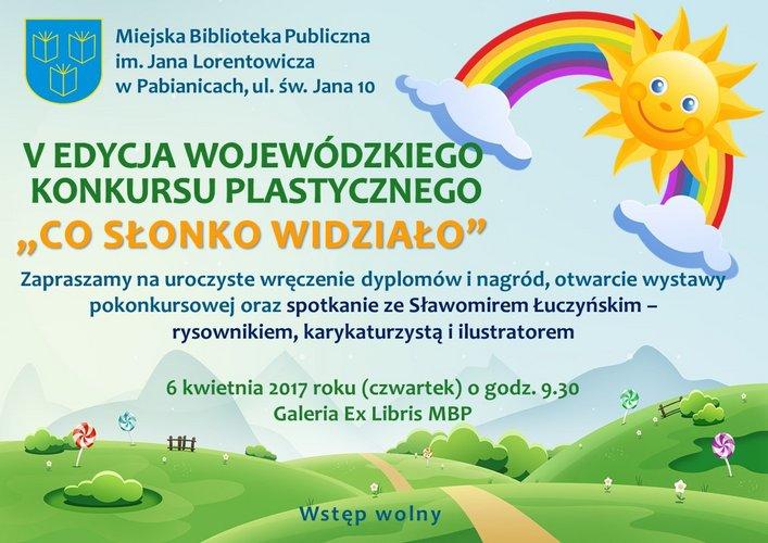 Konkurs Plastyczny Co Słonko Widziało Region Kultury